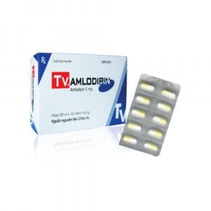 Thuốc trị cao huyết áp Amlodipin 5mg Tv.Pharm (3 vỉ x 10 viên/hộp)