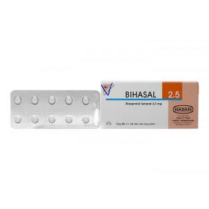 Thuốc trị cao huyết áp Bihasal 2.5mg (5 vỉ x 10 viên/hộp)