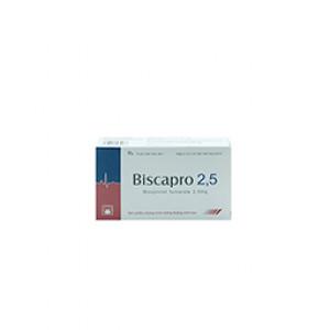 Thuốc tim mạch Biscapro 2.5 mg (2 vỉ x 14 viên/hộp)