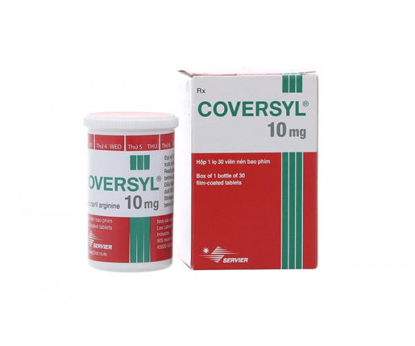 Thuốc điều trị cao huyết áp Coversyl 10mg (30 viên/lọ)