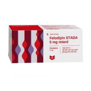Thuốc trị cao huyết áp Felodipin Stella 5mg retard (10 vỉ x 10 viên/hộp)