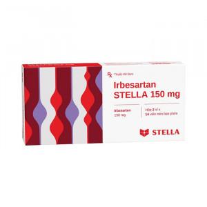 Thuốc trị cao huyết áp Irbesartan Stella 150mg (2 vỉ x 14 viên/hộp)
