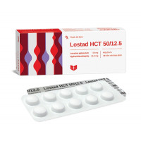 Thuốc trị cao huyết áp Lostad HCT 50mg/12.5mg (3 vỉ x 10 viên/hộp)