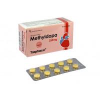 Thuốc điều trị cao huyết áp Methyldopa 250mg Traphaco (10 vỉ x 10 viên/hộp)