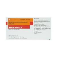 Thuốc trị cao huyết áp Nebicard 2.5mg (5 vỉ x 10 viên/hộp)
