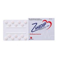Thuốc trị cao huyết áp Zanedip 10 (2 vỉ x 14 viên/hộp)