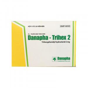 Thuốc trị Parkinson Danapha Trihex 2mg (5 vỉ x 20 viên/hộp)