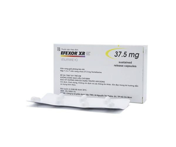 Thuốc điều trị rối loạn tâm thần Efexor XR 37.5mg (7 viên/hộp)