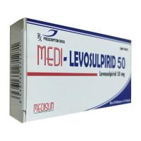 Thuốc Medi-Levosulpirid 50mg (3 vỉ x 10 viên/hộp)