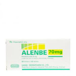 Thuốc trị loãng xương Alenbe 70mg ( 2 vỉ x 2 viên/hộp)