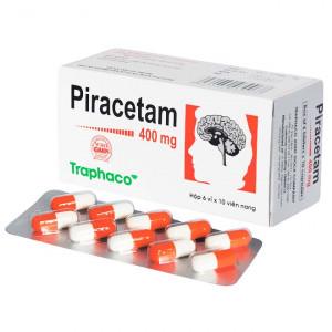 Thuốc điều trị suy giảm trí nhớ Piracetam 400mg Traphaco (6 vỉ x 10 viên/hộp)