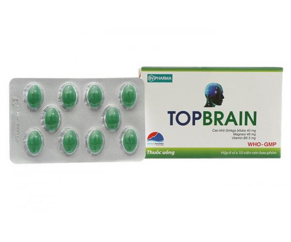 Thuốc tăng tuần hoàn não Topbrain (6 vỉ x 10 viên/hộp)