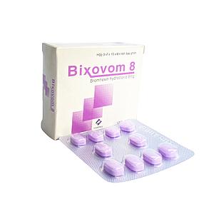 Thuốc điều trị làm tan đàm trong viên phế quản mãn tính Bixovom 8mg (3 vỉ x 10 viên/hộp)