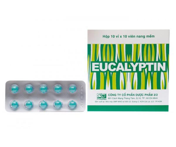 Thuốc sát trùng đường hô hấp Eucalyptin (10 vỉ x 10 viên/hộp)