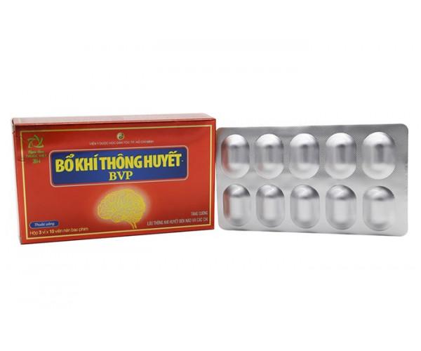Viên uống tăng cường lưu thông khí huyết Bổ Khí Thông Huyết BVP (6 vỉ x 10 viên/hộp)