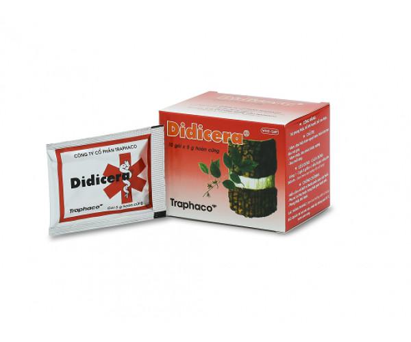 Thuốc trừ phong thấp, bổ khí huyết, bổ can thận Didicera (10 gói x 5g viên hoàn cứng/hộp)