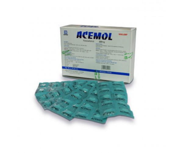 Thuốc giảm đau, hạ sốt trẻ em Acemol 325mg (40 vỉ x 10 viên/hộp)