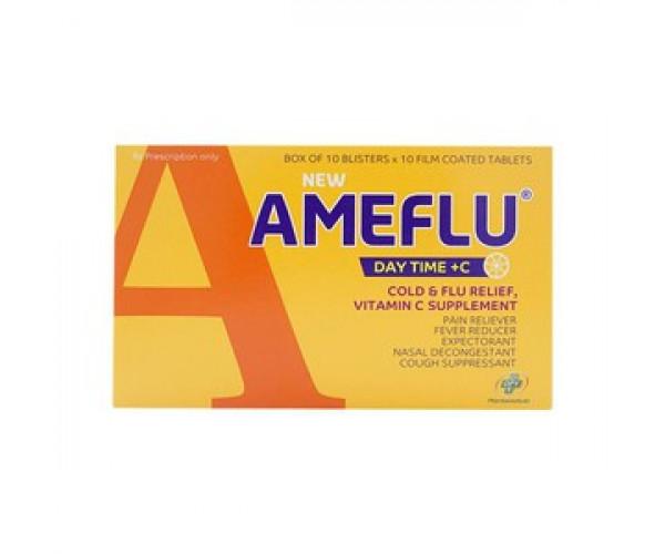 Thuốc trị cảm cúm New Ameflu Daytime +C (10 vỉ x 10 viên/hộp)