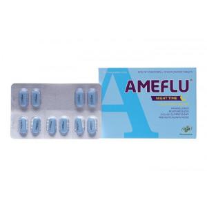 Thuốc trị cảm cúm Ameflu Night Time (10 vỉ x 10 viên/hộp)