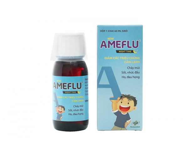 Siro trị cảm lạnh cho trẻ em Ameflu Night Time (60ml)