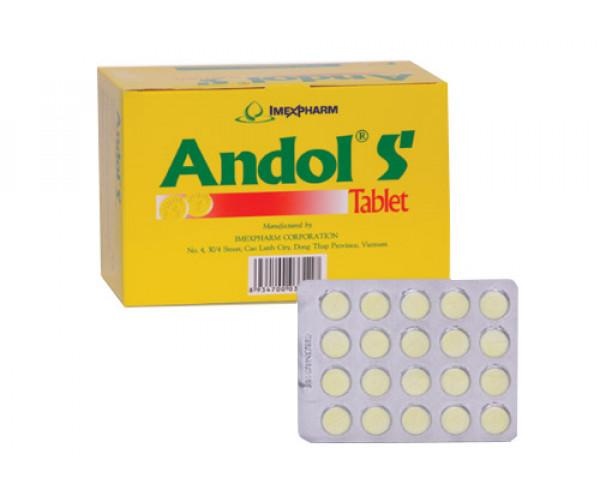 Thuốc điều trị cảm, sốt, nhức đầu Andol S (25 vỉ x 20 viên/hộp)