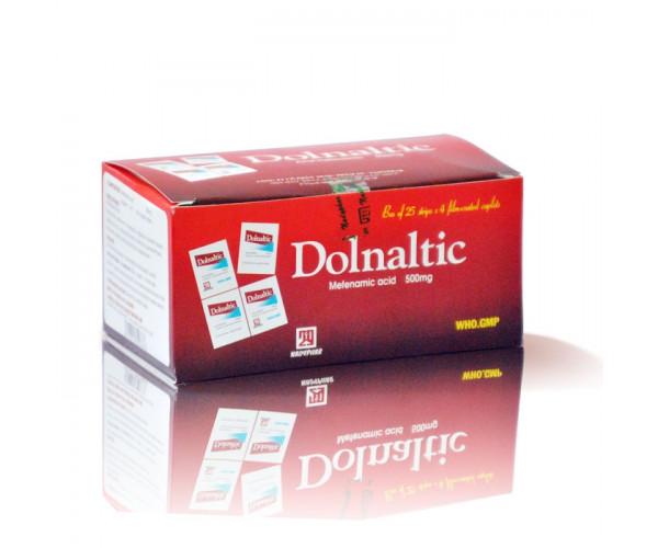 Thuốc trị các triệu chứng đau nửa đầu, đau răng, đau do chấn thương Dolnaltic 500mg (25 vỉ x 4 viên/hộp)