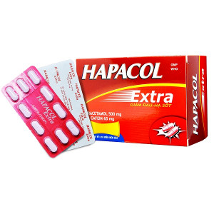 Thuốc giảm đau, hạ sốt Hapacol Extra (10 vỉ x 10 viên/hộp)