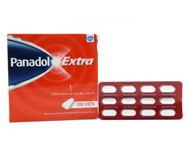Thuốc điều trị giảm các cơn đau - hạ sốt Panadol Extra (15 vỉ x 12 viên/hộp)