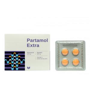 Thuốc giảm đau, kháng viêm Partamol Extra (10 vỉ x 4 viên/hộp)