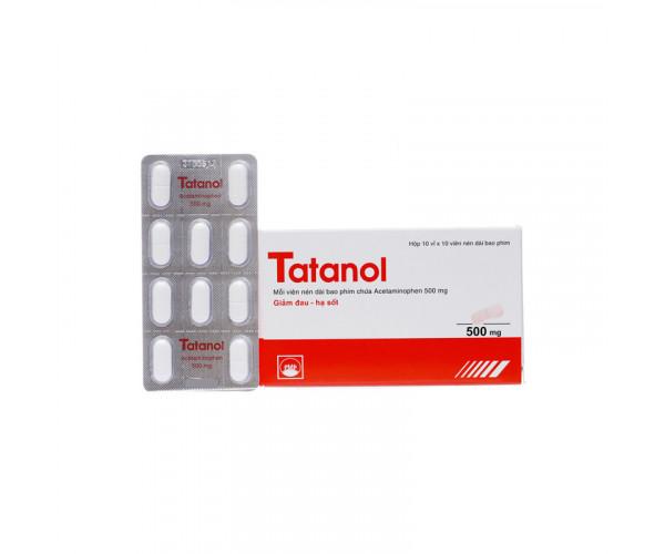Thuốc giảm đau, hạ sốt Tatanol 500mg (10 vỉ x 10 viên/hộp)