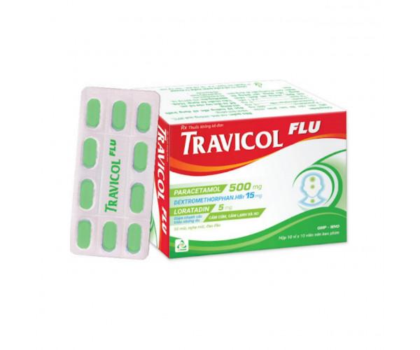 Thuốc trị cảm cúm Travicol Flu (10 vỉ x 10 viên/hộp)