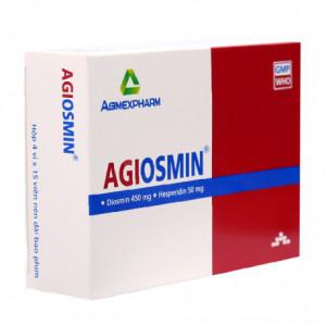 Thuốc trị trĩ, suy giãn tĩnh mạch Agiosmin (4 vỉ x 15 viên/hộp)