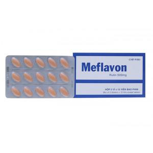 Thuốc trị trĩ, suy giãn tĩnh mạch Meflavon 500mg (2 vỉ x 15 viên/hộp)
