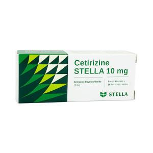 Thuốc chống dị ứng Cetirizine 10mg Stella (5 vỉ x 10 viên/hộp)