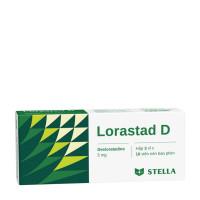 Thuốc làm giảm triệu chứng viêm mũi dị ứng & chứng nổi mề đay Lorastad D 5mg (3 vỉ x 10 viên/hộp)
