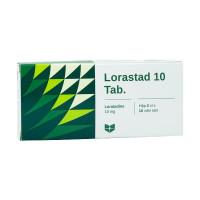 Thuốc chống dị ứng Lorastad 10mg (10 vỉ x 10 viên/hộp)