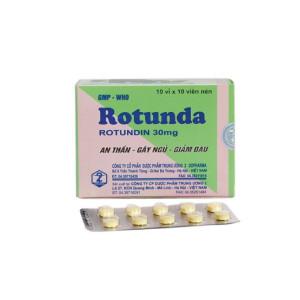 Thuốc an thần, trị mất ngủ Rotunda 30mg (10 vỉ x 10 viên/hộp)