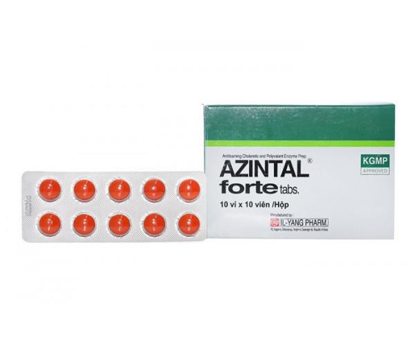Thuốc trị đầy hơi, khó tiêu Azintal Forte (10 vỉ x 10 viên/hộp)