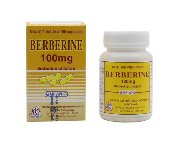 Thuốc trị tiêu chảy, kiết lỵ  Berberine 100mg MKP (100 viên/chai)