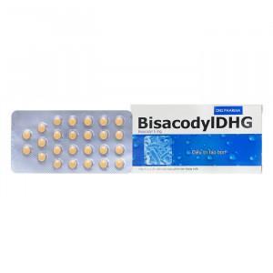 Thuốc trị táo bón Bisacodyl DHG 5mg (4 vỉ x 25 viên/hộp)