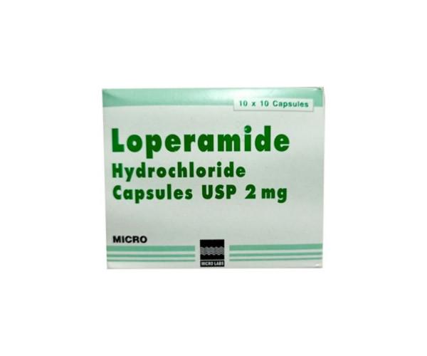 Thuốc điều trị tiêu chảy Loperamide 2mg Micro (10 vỉ x 10 viên/hộp)