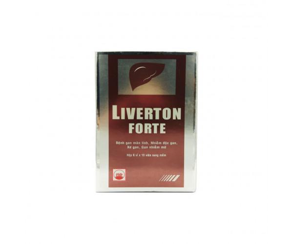 Thuốc hỗ trợ điều trị viêm gan, suy gan Liverton Forte (6 vỉ x 10 viên/hộp)