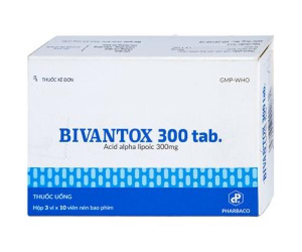 Thuốc Bivantox 300mg (3 vỉ x10 viên/hộp)