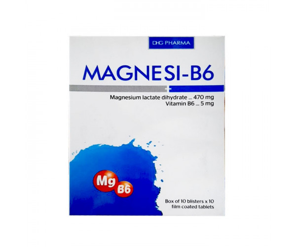 Thuốc điều trị các trường hợp thiếu magnesi Magnesi-B6 DHG (10 vỉ x 10 viên/hộp)
