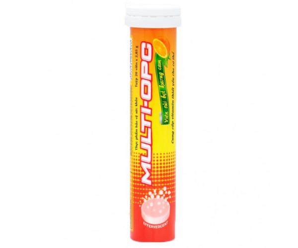 Viên sủi hương cam  Multi-OPC (20 viên/tube)